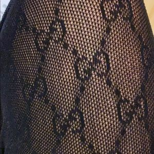 Gucci black GG tights
